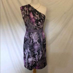Banana republic purple one shoulder dress size 6